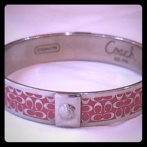 Coach, classic red on silver design, perfect cond.